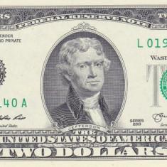 Bancnota Statele Unite ale Americii 2 Dolari 2013 (