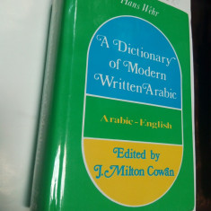 DICTIONAR ARAB - ENGLEZ - HANS WEHR