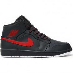 Pantofi sport barbati Air Jordan 1 Mid Anthracite Gym 554724-045 - Adidasi barbati Nike
