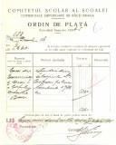 Z437 DOCUMENT VECHI-COMITETUL SCOALEI COMERCIALE SUPERIOARE DE BAIETI, BRAILA
