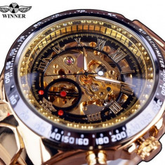 Ceas Winner Win026 FullGoldPlated - Ceas barbatesc, Mecanic-Automatic