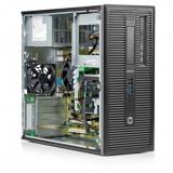 Calculator HP EliteDesk 800 G1 Tower, Intel Core i5 Gen 4 4590 3.3 GHz, 4 GB DDR3, 120 GB SSD NOU, DVD-ROM, Windows 10 Pro, 3 Ani Garantie - Sisteme desktop fara monitor