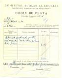 Z443 DOCUMENT VECHI-COMITETUL SCOALEI COMERCIALE SUPERIOARE DE BAIETI, BRAILA
