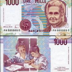 !!!  ITALIA  -  1.000  LIRE  1990  -  P 114 c  - UNC / SEMN. DIN IMAGINE