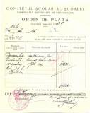 Z436 DOCUMENT VECHI-COMITETUL SCOALEI COMERCIALE SUPERIOARE DE BAIETI, BRAILA