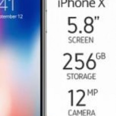 Iphone x 256gb sigilat liber retea - Telefon iPhone Apple, Argintiu