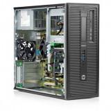 Calculator HP EliteDesk 800 G1 Tower, Intel Core i5 Gen 4 4570 3.2 GHz, 4 GB DDR3, 250 GB HDD SATA, DVD-ROM, Windows 10 Pro, 3 Ani Garantie - Sisteme desktop fara monitor