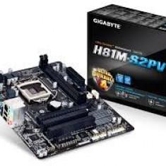 Placa de baza Gigabyte H81M-S2PV, Socket 1150, noi, garantie 6 luni, Pentru INTEL, LGA 1150, DDR 3, MicroATX