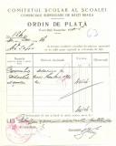 Z441 DOCUMENT VECHI-COMITETUL SCOALEI COMERCIALE SUPERIOARE DE BAIETI, BRAILA