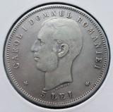 Romania 5 lei 1906 argint 25g (1)