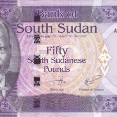 Bancnota Sudanul de Sud 50 Pounds 2017 - P14b UNC