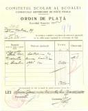 Z451 DOCUMENT VECHI-COMITETUL SCOALEI COMERCIALE SUPERIOARE DE BAIETI, BRAILA
