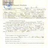 Z467 DOCUMENT VECHI -LICEUL TEORETIC DE FETE, BRAILA - BOGOI DUMITRU- 1942 - Hartie cu Antet