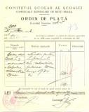 Z439 DOCUMENT VECHI-COMITETUL SCOALEI COMERCIALE SUPERIOARE DE BAIETI, BRAILA