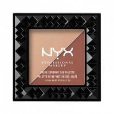 Paleta Pentru Conturarea Fetei Nyx Professional Makeup Cheek Contour Duo GingerPepper 2.5 gr - Iluminator