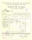 Z446 DOCUMENT VECHI-COMITETUL SCOALEI COMERCIALE SUPERIOARE DE BAIETI, BRAILA