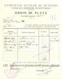 Z452 DOCUMENT VECHI-COMITETUL SCOALEI COMERCIALE SUPERIOARE DE BAIETI, BRAILA