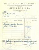 Z444 DOCUMENT VECHI-COMITETUL SCOALEI COMERCIALE SUPERIOARE DE BAIETI, BRAILA
