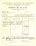Z435 DOCUMENT VECHI-COMITETUL SCOALEI COMERCIALE SUPERIOARE DE BAIETI, BRAILA