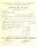 Z449 DOCUMENT VECHI-COMITETUL SCOALEI COMERCIALE SUPERIOARE DE BAIETI, BRAILA