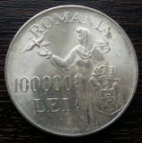 (A101) MONEDA DIN ARGINT ROMANIA - 100.000 LEI 1946, REGELE MIHAI I