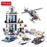 JOC CONSTRUCTIE TIP LEGO COMPATIBIL 100% SECTIA DE POLITIE 536 PIESE,SUPER CADOU, Unisex