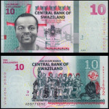 !!! SWAZILAND - 10 EMALANGENI  2015 (2017) , COMM   - P 41  - UNC / VISION 2022