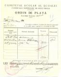 Z453 DOCUMENT VECHI-COMITETUL SCOALEI COMERCIALE SUPERIOARE DE BAIETI, BRAILA