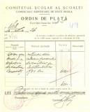 Z447 DOCUMENT VECHI-COMITETUL SCOALEI COMERCIALE SUPERIOARE DE BAIETI, BRAILA