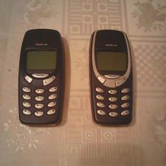Telefon mobil Nokia 3310 cu incarcator, baterie noua P58 - Telefon Nokia, Argintiu, Nu se aplica, Neblocat, Single SIM, Single core