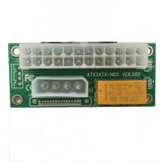Adaptor power extender pentru pornire sincrona 24 pini dual PSU mining