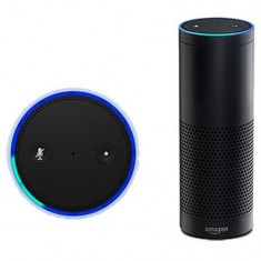 Boxa portabila Amazon Echo Alexa (1), asistent personal inteligent AI, Asia box, Conectivitate wireless: 1, Conectivitate bluetooth: 1, Telecomanda: 1, Alarma: 1