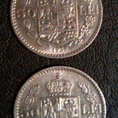 Set Monede 50 Lei 1937 si 1938 - Moneda Romania, Nichel