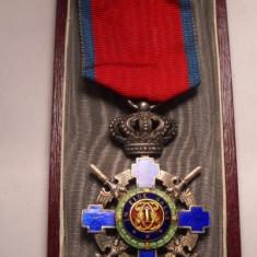 Ordinul Steaua Romaniei Cavaler Model de Razboi la cutie Piesa de Colectie