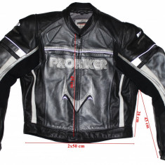 Costum moto piele Probiker, protectii, barbati, marimea 54-52