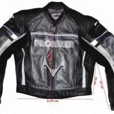 Costum moto piele Probiker, protectii, barbati, marimea 54-52 - Imbracaminte moto Probiker, Combinezoane