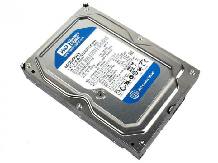 Hard-disk PC WD 500 GB Blue, Sata2, 7200 rpm, 16MB, 100% health P62