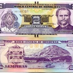 HONDURAS- 2 LEMPIRAS 2014- UNC!! - bancnota america