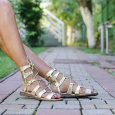 Sandale dama Emma aurii, Culoare: Auriu, Marime: 39