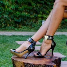 Sandale dama Roxette negre, Culoare: Negru, Marime: 35, 36, 37, 38, 39