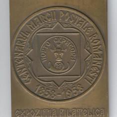 Placheta CENTENARUL MARCII POSTALE ROMANESTI 1858-1958 - Expo filatelica