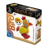 Jocuri creative D-Toys Set de Creatie Funky Bird Plastilina, D-Toys