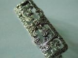 Brosa argint vintage cu marcasite -2740