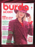 Revista BURDA Moden nr. 10/1989 cu tipare, in limba germana. Croitorie