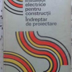 Instalatii Electrice Pentru Constructii. Indreptar De Proiect - M. Duminicatu, C. Bianchi, C. Ionescu, G. Chirita, 410640 - Carti Electrotehnica