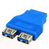 USB 3.0 Pinheader F 20pin la Dual USB 3.0 Female A