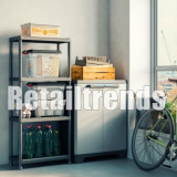 Dulap Vestiar Cabinet Depozitare Organizator Plastic Usi Demontabil 90x68x39cm