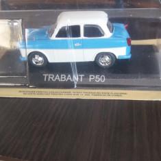 Macheta metal trabant p50 + revista masini de legenda nr. 15, 1:43