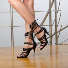 Sandale dama Valery negre, Culoare: Negru, Marime: 35, 36, 37, 38
