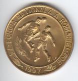 Medalie FOTBAL  Echipa Nationala a  Romaniei - Tineret Calificarea la Camp Europ